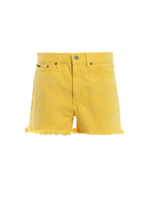 POLO RALPH LAUREN: Trousers Shorts - The Shawe yellow shorts