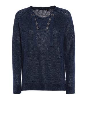Polo Ralph Lauren: v necks - Navy linen over sweater