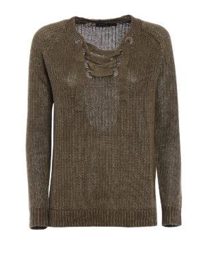 Polo Ralph Lauren: v necks - Olive linen over sweater