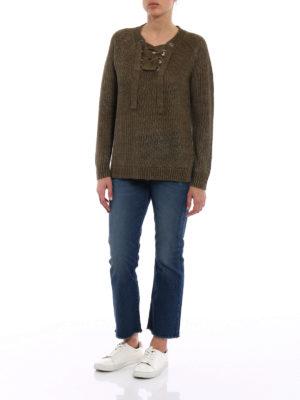 Polo Ralph Lauren: v necks online - Olive linen over sweater
