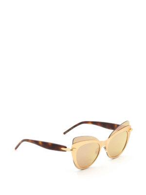 Pomellato: glasses - Double cat-eye frame sunglasses