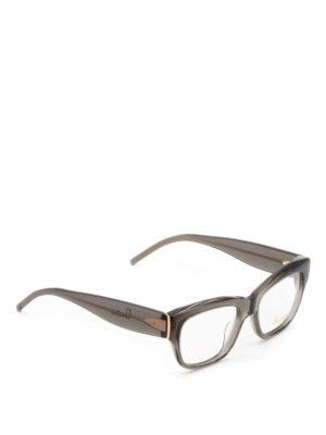 Pomellato: glasses - Grey acetate square eyeglasses