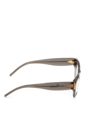Pomellato: glasses online - Grey acetate square eyeglasses