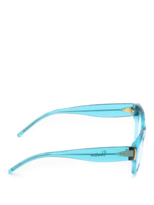 Pomellato: glasses online - Sky blue acetate square eyeglasses