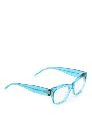 Pomellato: glasses - Sky blue acetate square eyeglasses