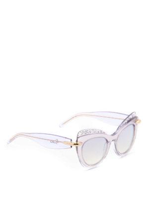 Pomellato: sunglasses - Glowing cat-eye clear sunglasses