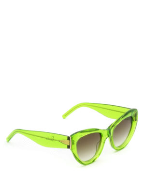 Pomellato: sunglasses - Green frame cat-eye sunglasses