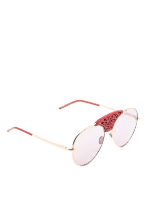 Pomellato: sunglasses - Laser cut embellished sunglasses