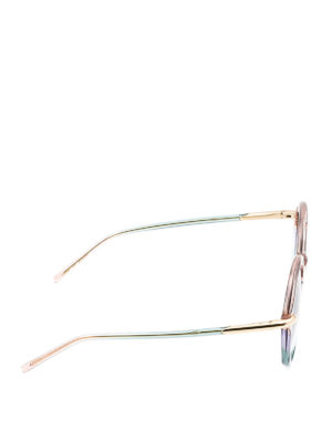 Pomellato: sunglasses online - Colour block round sunglasses