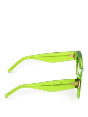 Pomellato: sunglasses online - Green frame cat-eye sunglasses