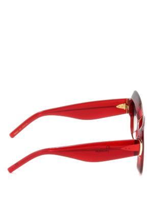 Pomellato: sunglasses online - Oversize red frame squared glasses