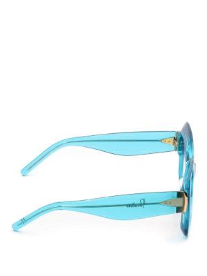 Pomellato: sunglasses online - Turquoise acetate square sunglasses