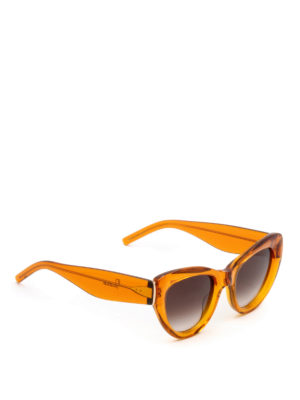 Pomellato: sunglasses - Orange frame cat-eye sunglasses