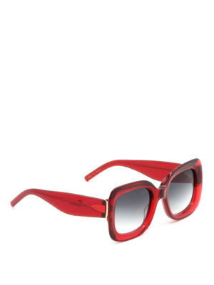 Pomellato: sunglasses - Oversize red frame squared glasses