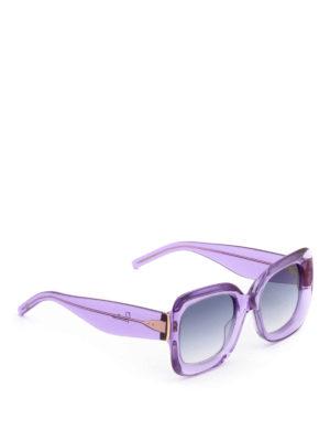Pomellato: sunglasses - Thick acetate square sunglasses