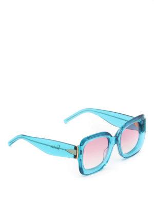 Pomellato: sunglasses - Turquoise acetate square sunglasses
