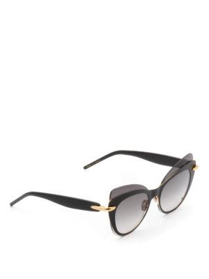 Pomellato: sunglasses - Two-tone acetate cat-eye sunglasses