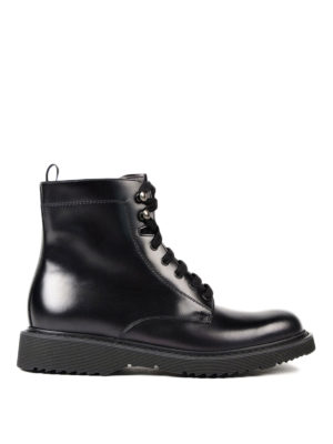 Prada: ankle boots - Laced-up leather booties