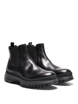 Prada: ankle boots online - Illinois leather chelsea boots