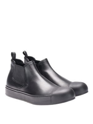 Prada: ankle boots online - Plume calfskin Chelsea boots