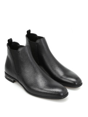 Prada: ankle boots online - Saffiano leather ankle boots