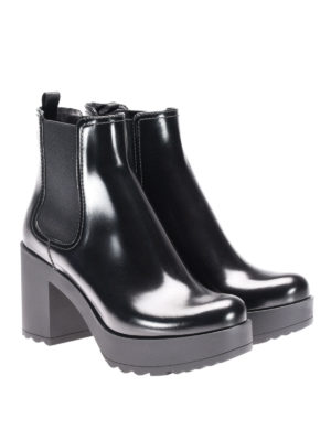 Prada: ankle boots online - Smooth leather ankle boots
