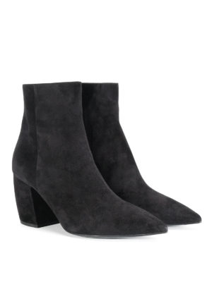 Prada: ankle boots online - Suede tapered ankle boots