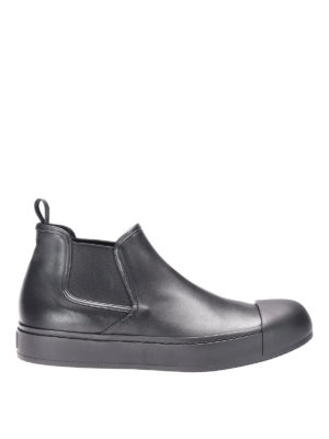 Prada: ankle boots - Plume calfskin Chelsea boots