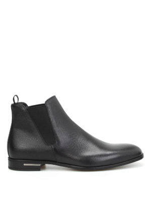 Prada: ankle boots - Saffiano leather ankle boots