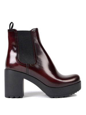 Prada: ankle boots - Smooth leather ankle boots