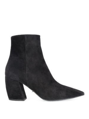 Prada: ankle boots - Suede tapered ankle boots