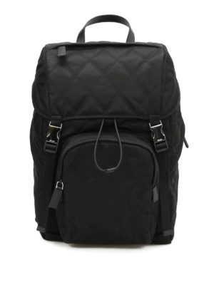 Prada: backpacks - Argyle quilted nylon backpack
