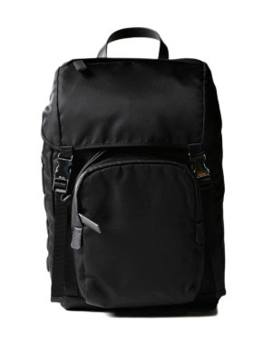 Prada: backpacks - Coloured saffiano logo backpack