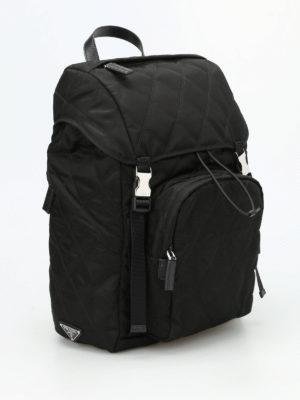 Prada: backpacks online - Argyle quilted nylon backpack