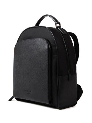 Prada: backpacks online - Nylon and saffiano leather backpack