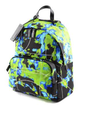 Prada: backpacks online - Pixel patterned nylon backpack
