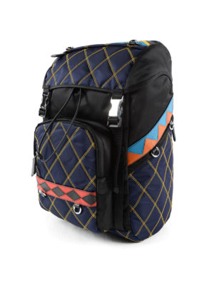 Prada: backpacks online - Quilted multicolour backpack