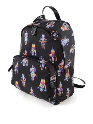 Prada: backpacks online - Robot print nylon backpack