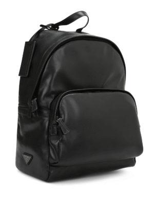 Prada: backpacks online - Sporty chic leather backpack