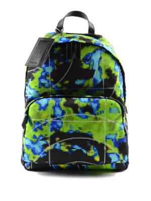 Prada: backpacks - Pixel patterned nylon backpack