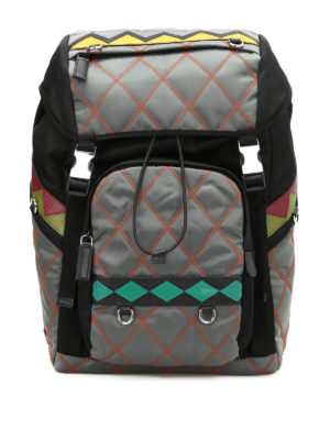 Prada: backpacks - Quilted multicolour backpack