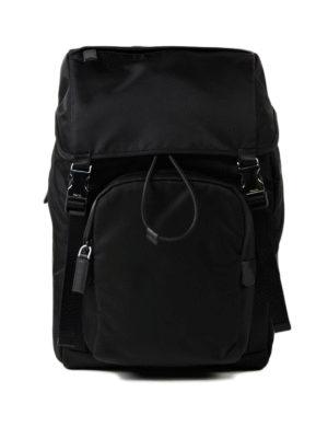 Prada: backpacks - Techno fabric and leather backpack