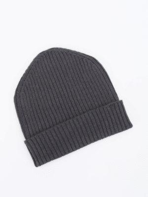 Prada: beanies online - Rib knitted cashmere beanie