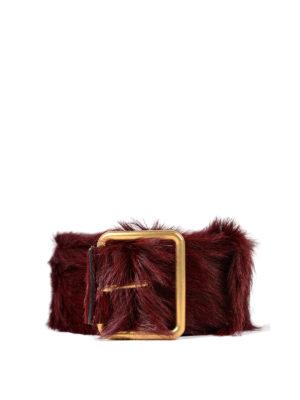 Prada: belts - Calf hair belt