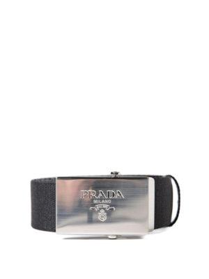Prada: belts - Classic web belt