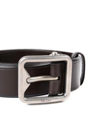 Prada: belts online - Classic leather belt