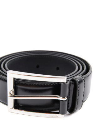 Prada: belts online - Polished leather belt