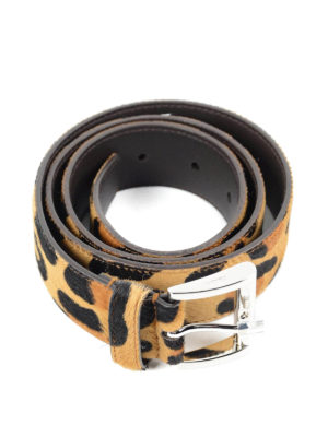 Prada: belts online - Ponyhair large belt
