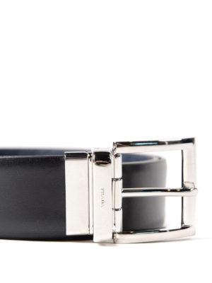Prada: belts online - Reversible calfskin saffiano belt