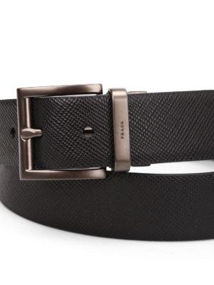 Prada: belts online - Saffiano leather belt